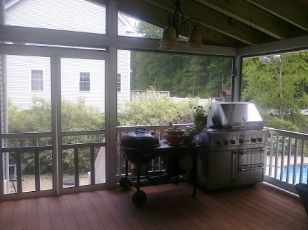 Back Porch with vented BBQ grill  Sunroom ideas 4 season