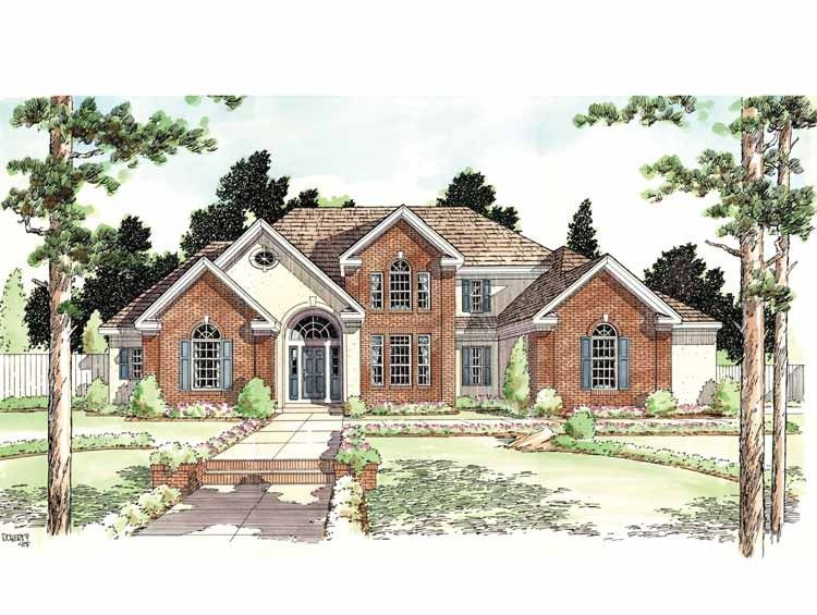 Classical Style House Plan 4 Beds 2 5 Baths 3012 Sq Ft Plan 1029 48 House Plans Colonial House Plans Traditional House Plans