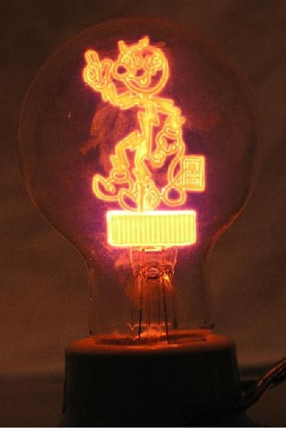 Great Reddy Kilowatt Unique Light Bulb/Night Light