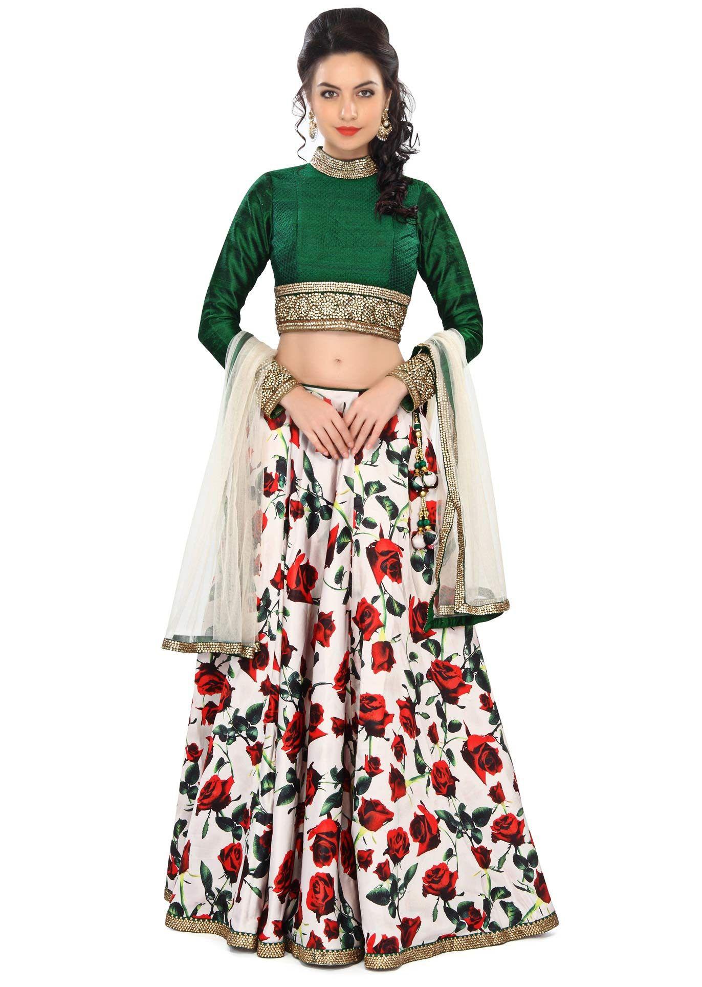 7da951eca3 India's Largest Online Ethnic Store. Multicolor Floral Printed Lehenga # Lehenga, #Floral, #Printed