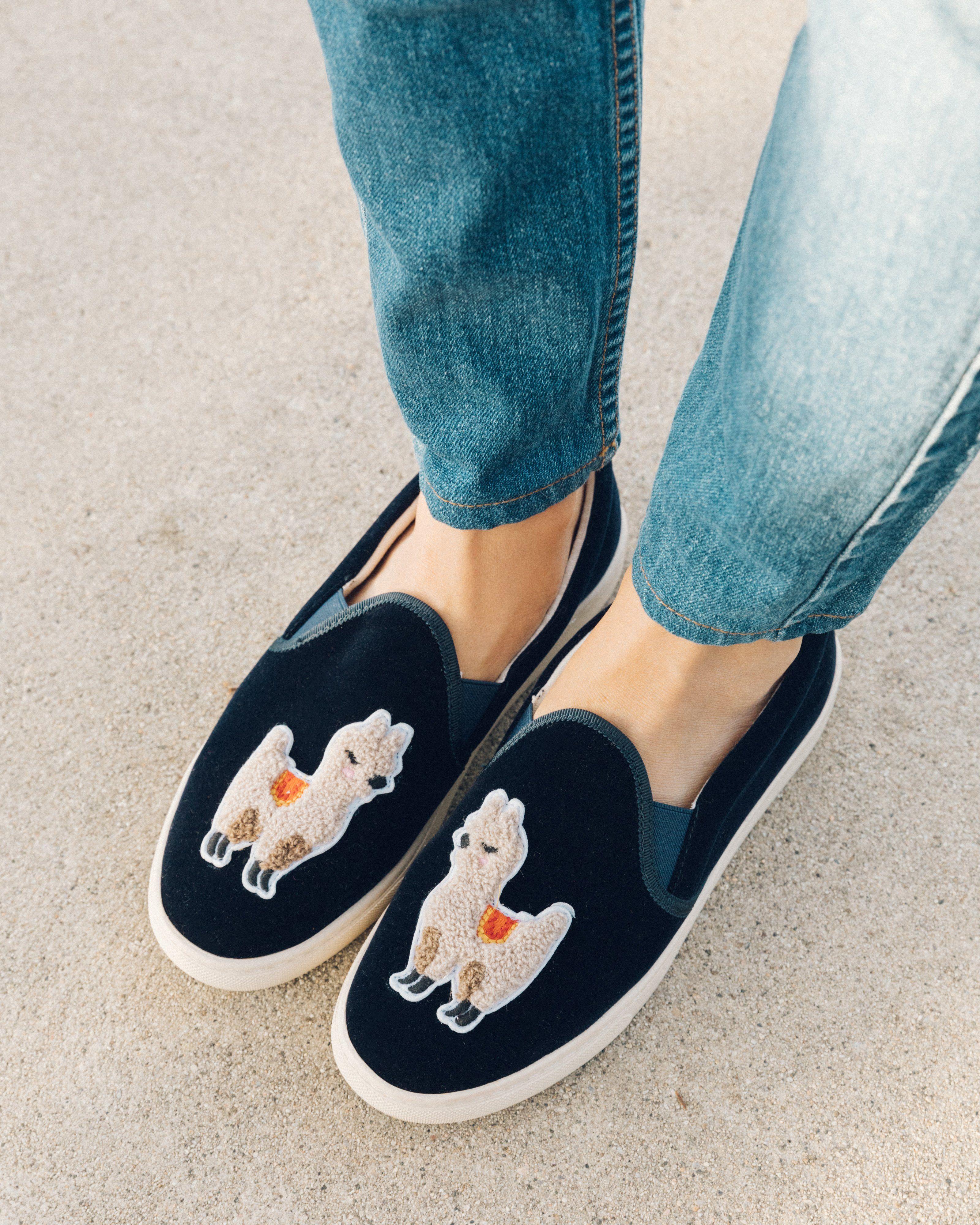 Velvet Llama Sneaker | Velvet sneakers