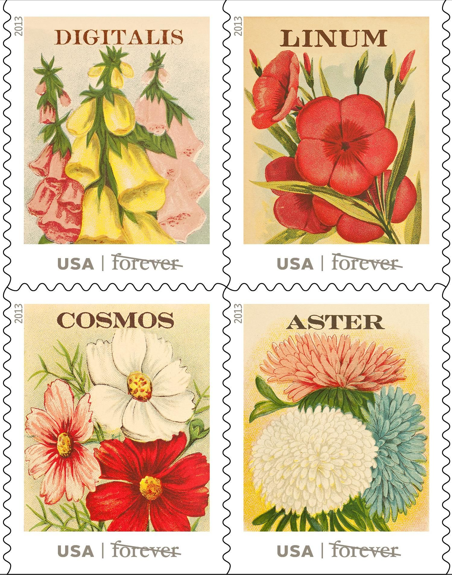 Spring into Action, get the new Vintage Seed Packets- Forever Stamps