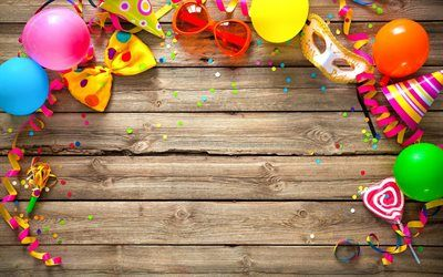 Herunterladen Hintergrundbild Happy Birthday Urlaub Zubehor Bogen
