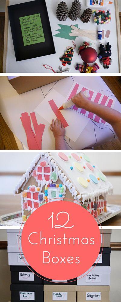 12 Christmas Boxes Christmas Homeschool Preschool Pinterest