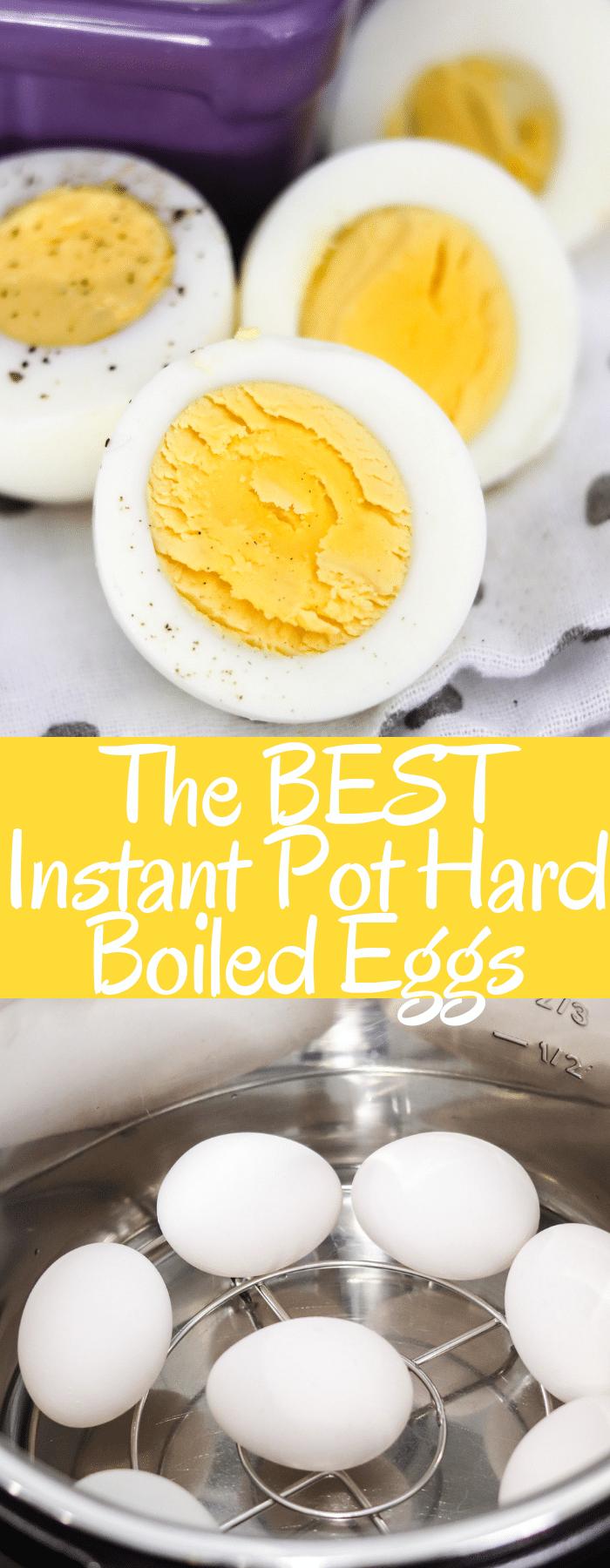 The BEST Instant Pot Hard Boiled Eggs