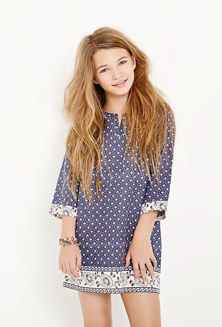 Abstract-Patterned Tunic Dress (Kids) - Dresses - 2000115476 ...