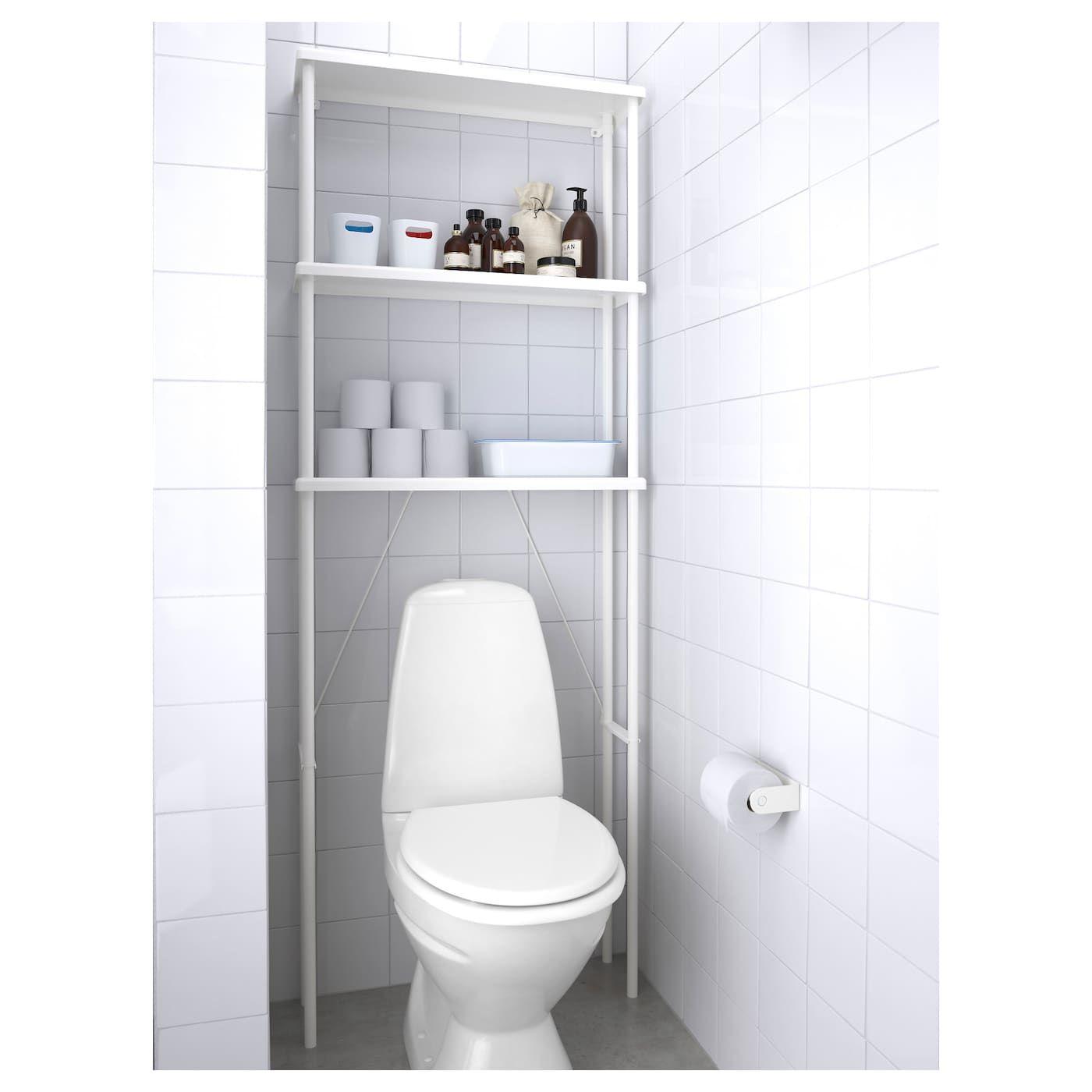 IKEA DYNAN White Open storage Bathroom storage, Storage