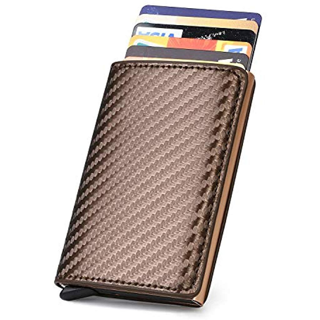 Uraqt Kreditkartenetui Kartenetui Carbon Rfid Blocking