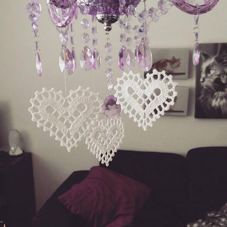 More #hearts!; #crochet #crochetedheart #virkkaus #virkattusydän #käsityöt