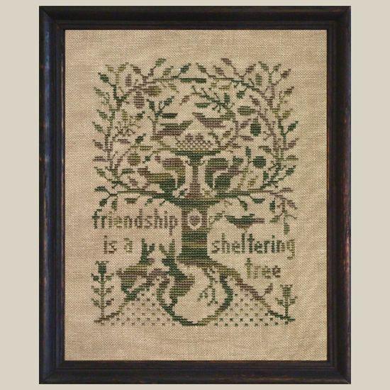 Primitive Cross Stitch Pattern  A Sheltering by FiddlestixDesign, $8.00