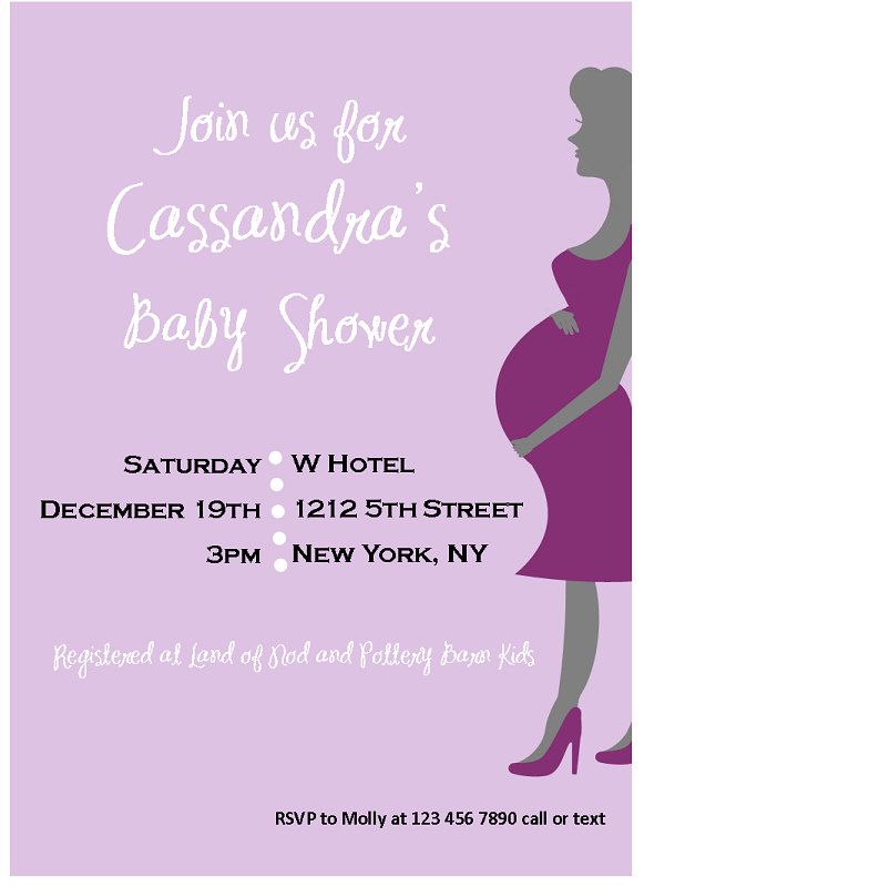 Baby shower invitations expecting mom invitation pregnant baby shower invitations expecting mom invitation pregnant silhouette baby shower invitation lavender filmwisefo Images