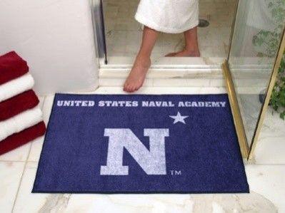 Naval Academy Navy Midshipmen All Star Welcome Bath Mat Rug 34x45 University Of Michigan Wolverines Villanova Star Rug