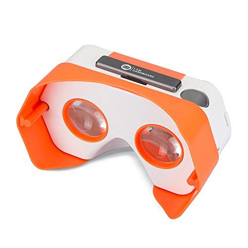 DSCVR Headset inspired by Google Cardboard v2 IO 2015 VR Gear for Apple iPhone and Android Smartphones  Google WWGC Certified Virtual Reality Viewer Orange *** Find out more about the great product at the image link.Note:It is affiliate link to Amazon.