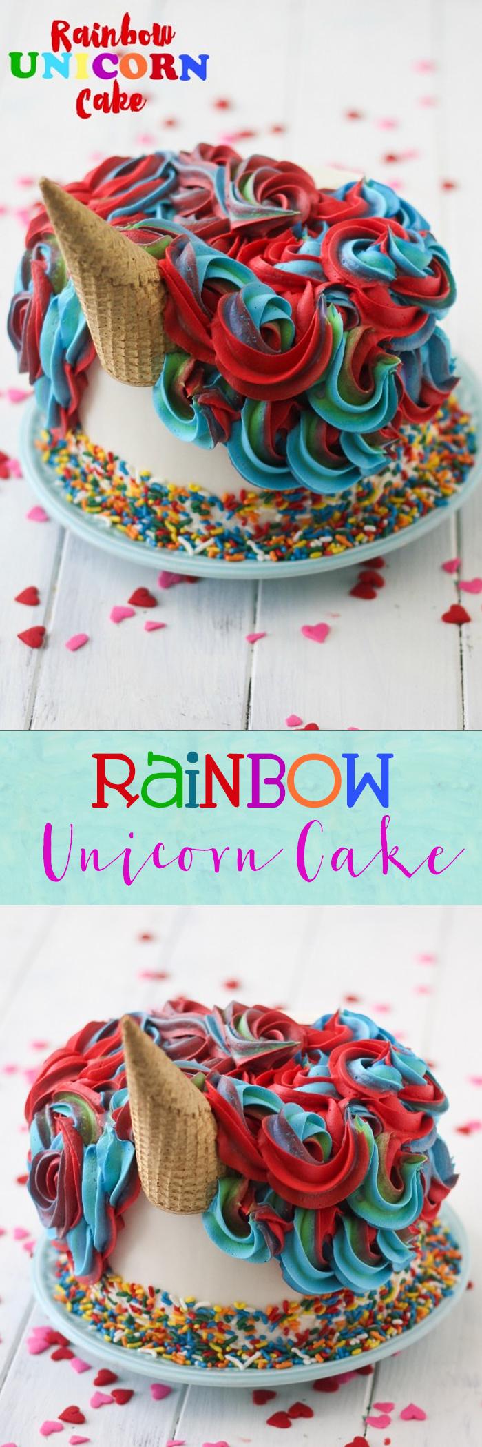 RAINBOW UNICORN CAKE!! So epic and majestic and fabulous! :)