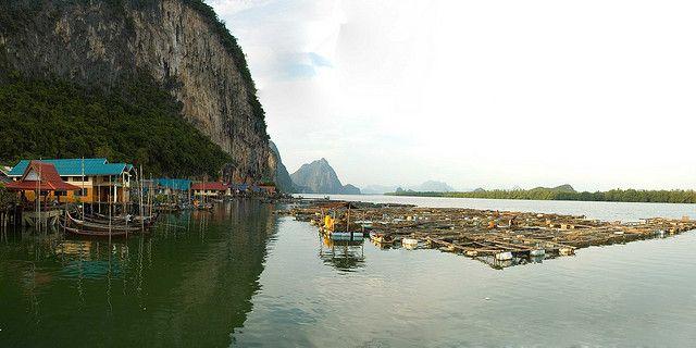 Muslim floating village - Krabi, Thailand