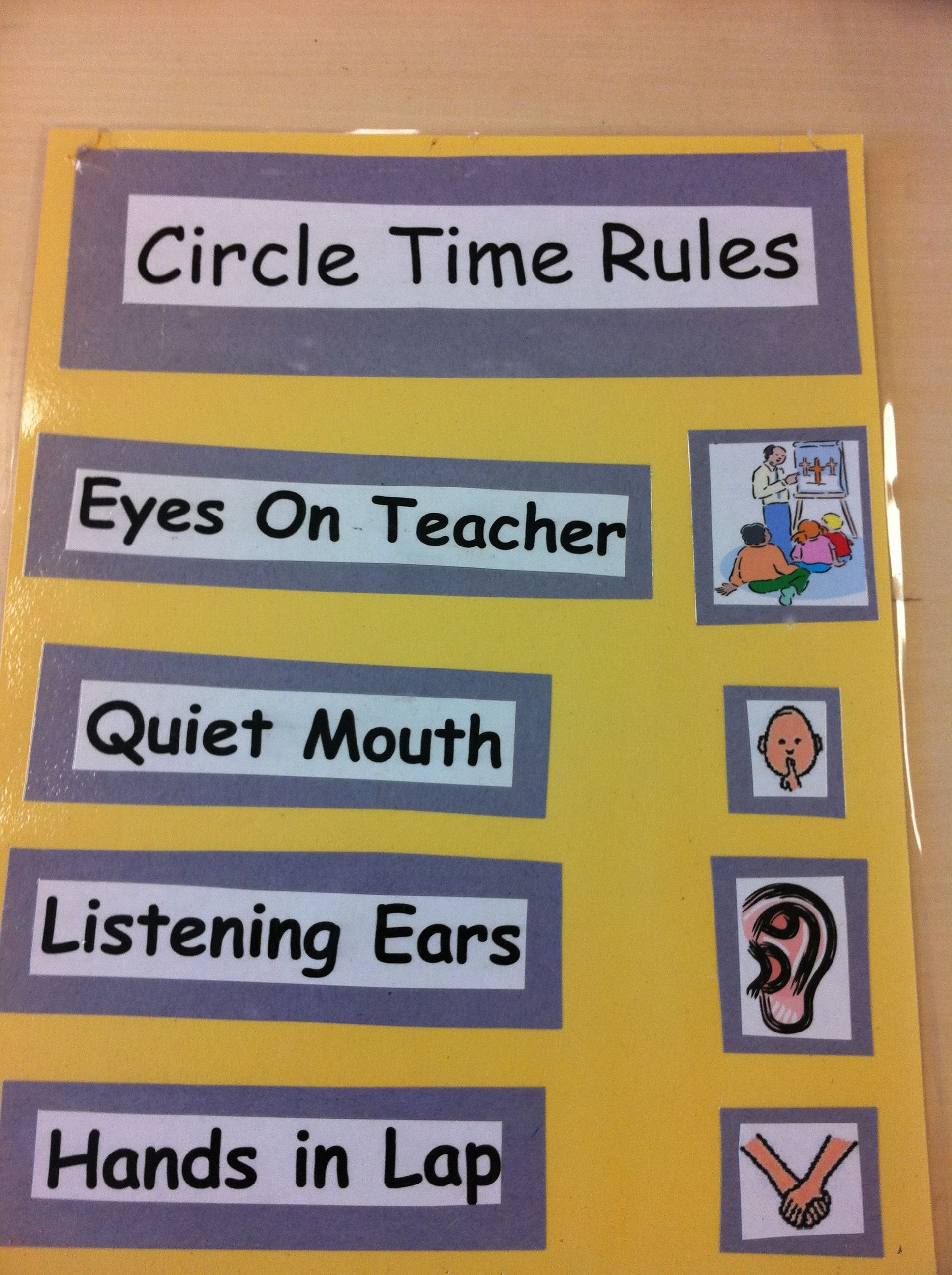 Circle Time Rules Amy Calabrese