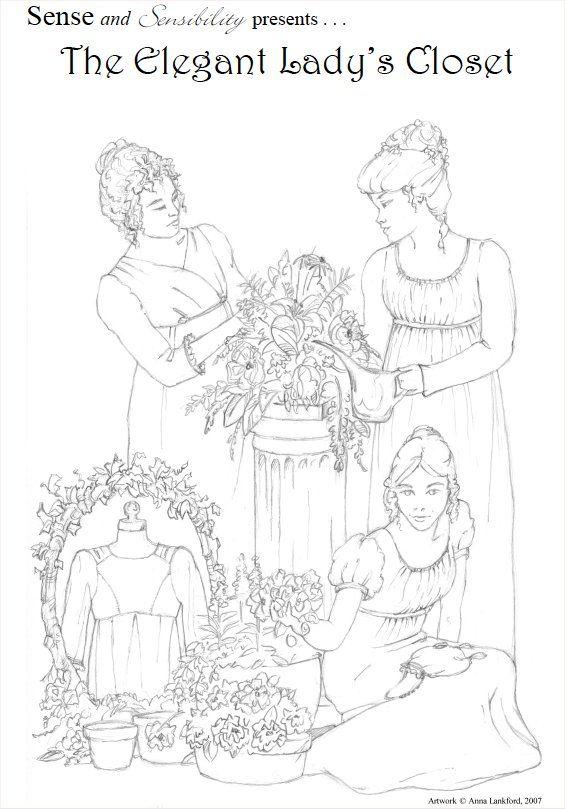 The Elegant Lady's Closet | Sense & Sensibility Patterns