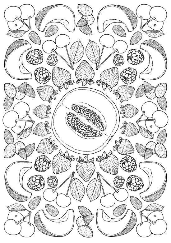 Fruits de saison | Coloring Pages | Pinterest