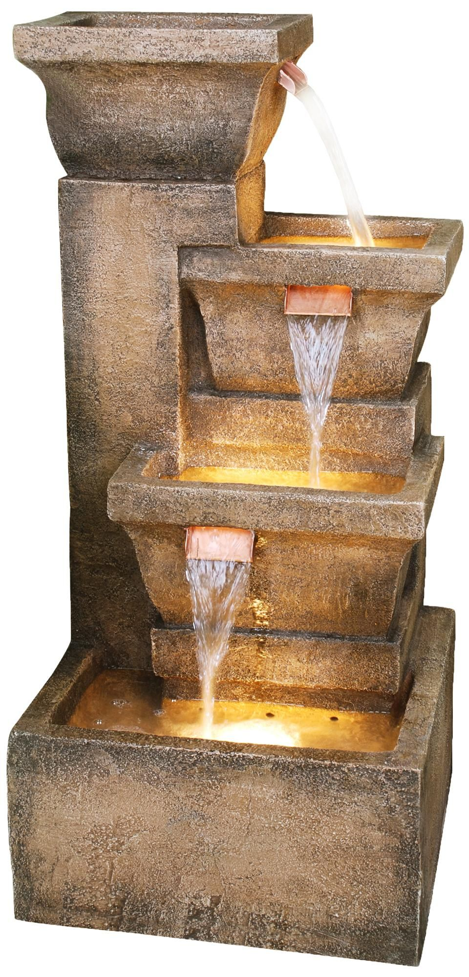 Indoor Lighted Water Fountains Ashboro lighted indoor outdoor 33 high water fountain outdoor ashboro lighted indoor outdoor water fountain workwithnaturefo