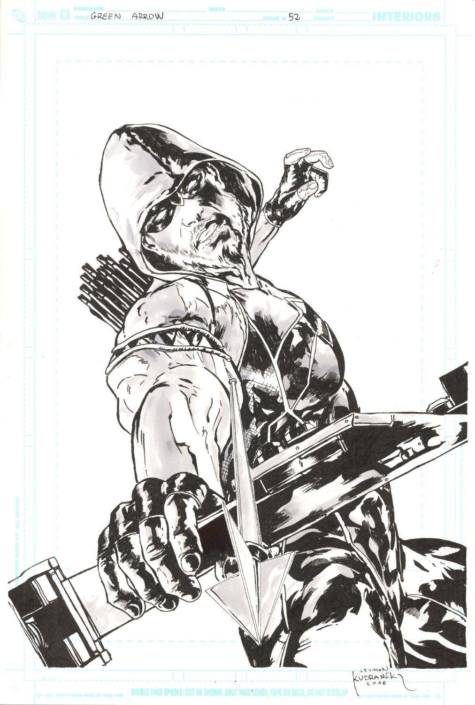 Splash Page Comic Art For Sale Artwork Green Arrow