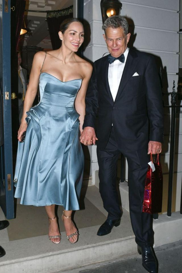 Katharine Mcphee Jokes About David Foster S Instagram Husband Skills During Italian Honeymoon Pure Hollywood Blue Dresses Reception Dress