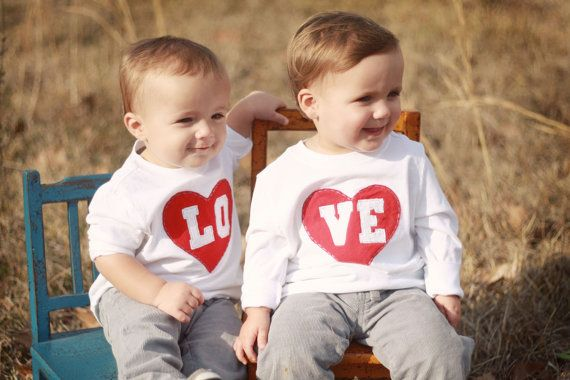Valentines day shirts for siblings twins letter per shirt for my foursome