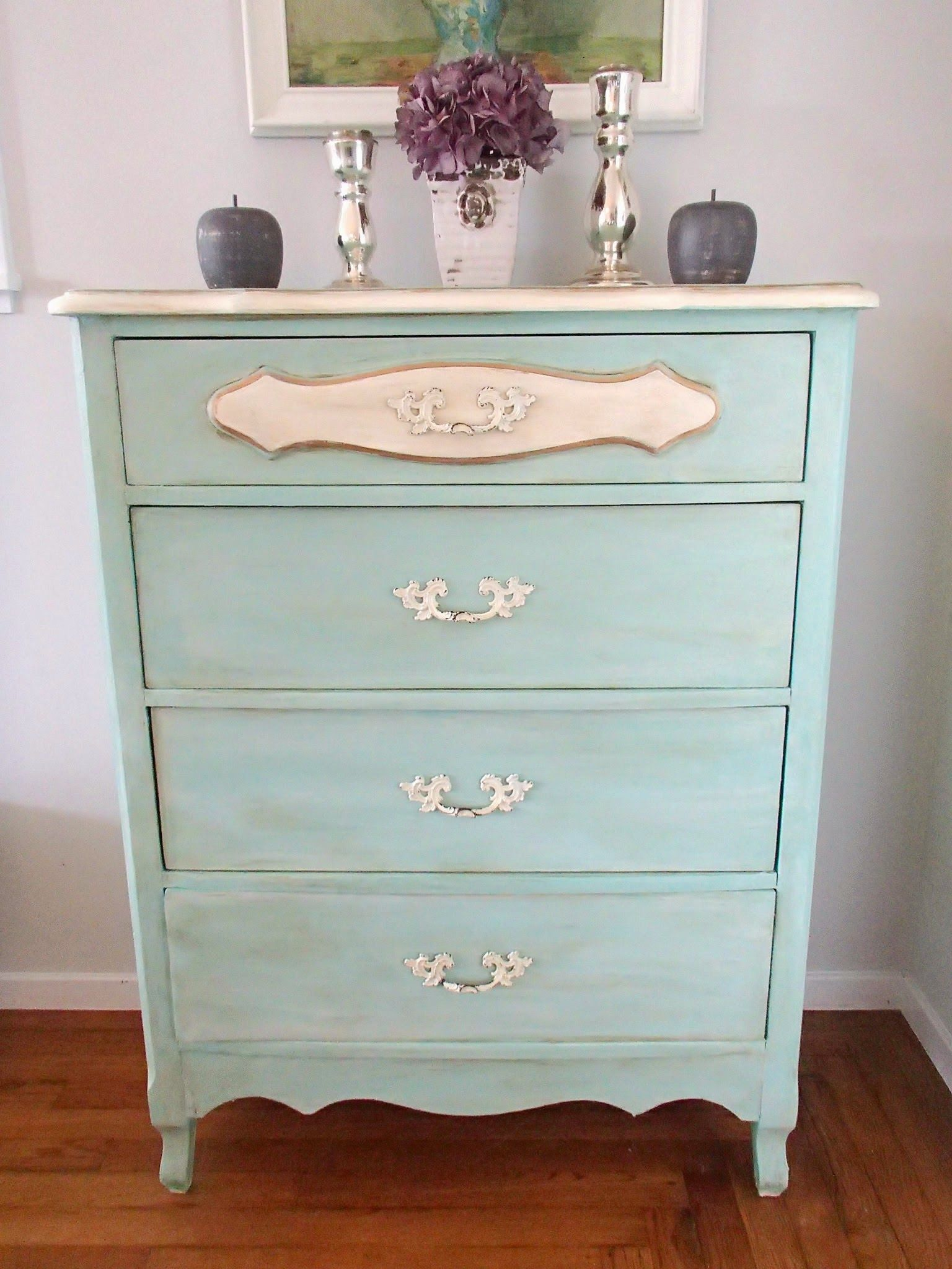 Dds Cottage And Design Blue French Provincial Dresser Turquoise Paint