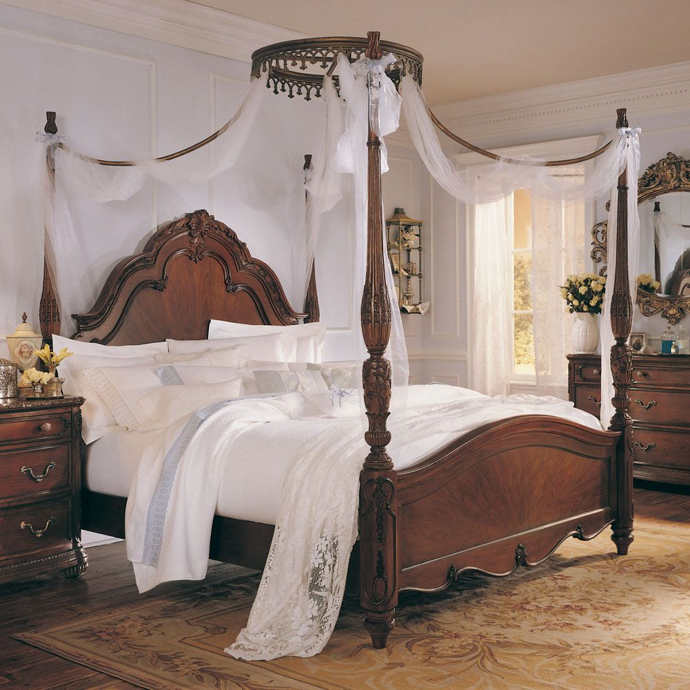 Photo of Jessica McClintock Home Palais Poster Bed (Beds Canopy Beds) & Photo of Jessica McClintock Home Palais Poster Bed (Beds Canopy ...