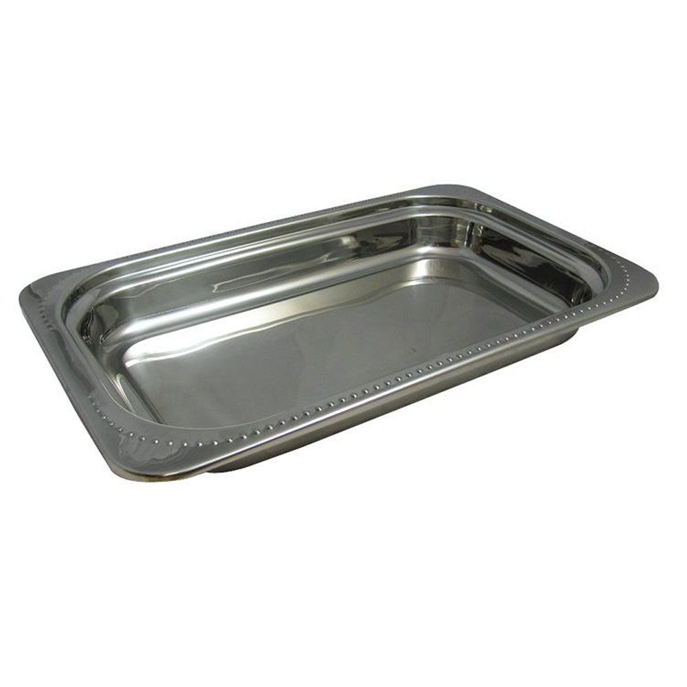 9 Qt 21 1 2 X 13 1 2 X 2 5 8 Inch Stainless Steel Rectangular Full Size Food Pan Bolero Design Stainless Steel Food Storage Steel Restaurant Stainless Steel