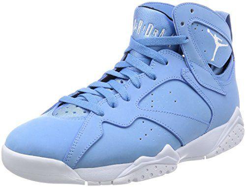 6964ea46ee5475 Jordan Men s Air 7 Retro University Blue White-White-Black 10.5 M US ...