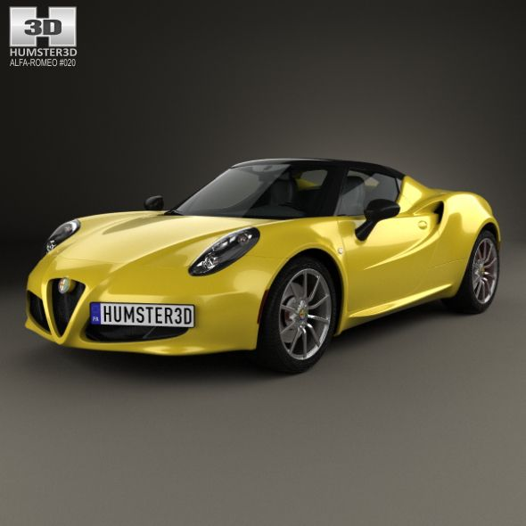 Alfa Romeo 4C Spider 2015. Fully Editable And Reusable 3D