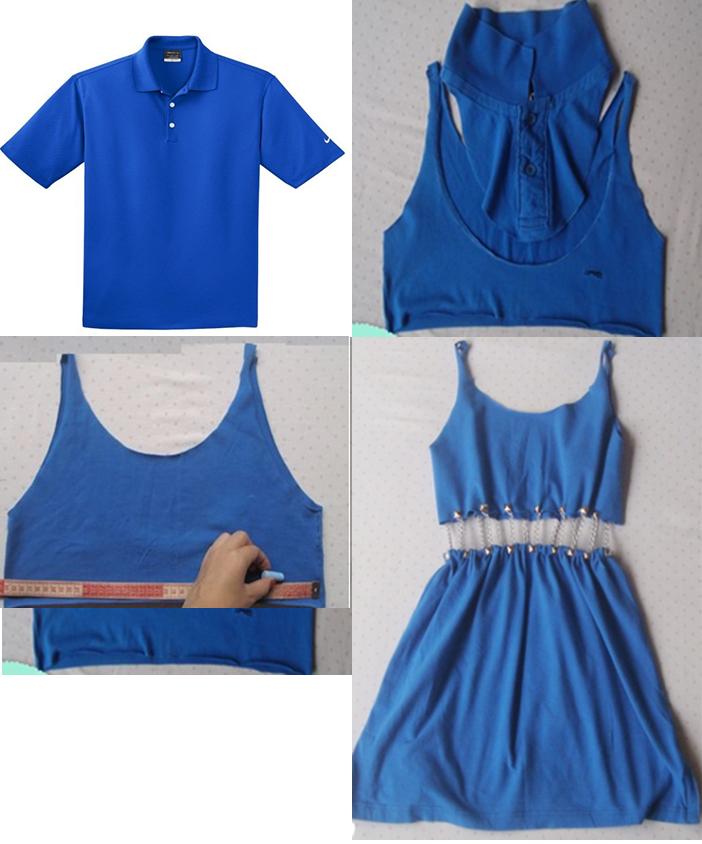 como-transformar-una-camiseta-de-hombre-en-un-sexi-vestido1dd ... 12c550b5eea