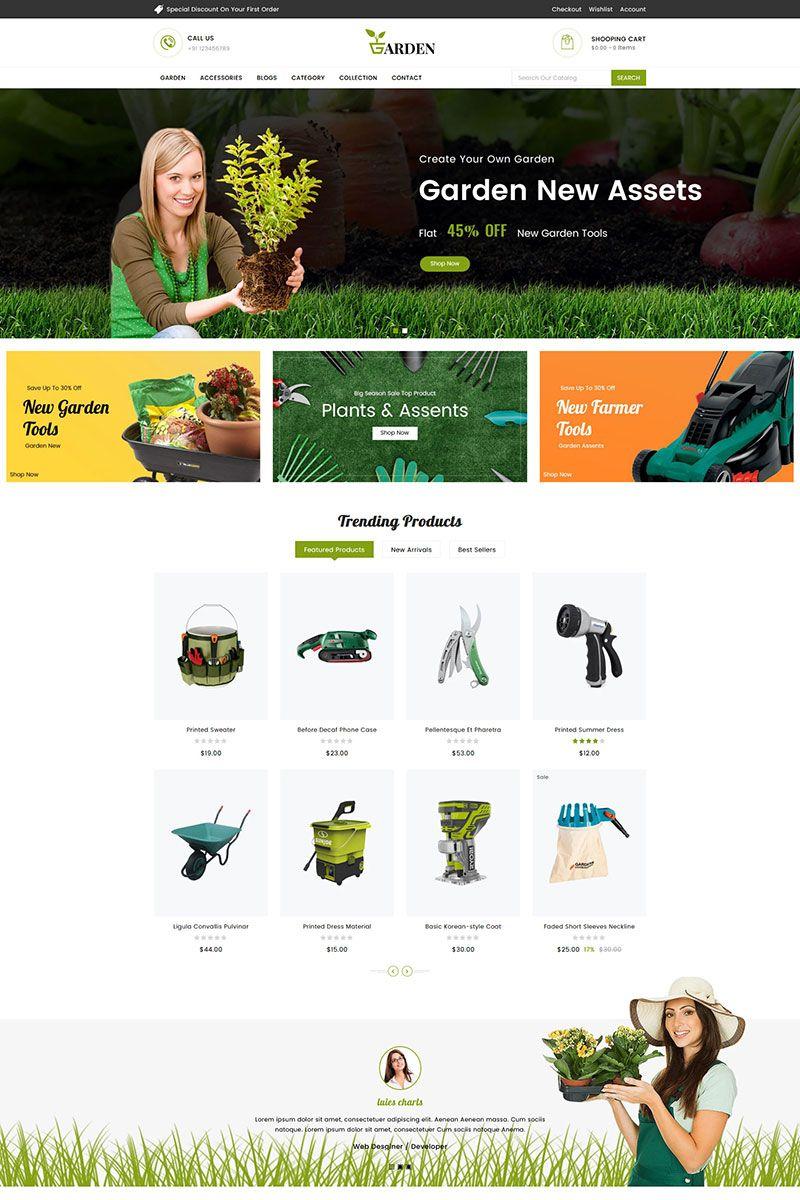 Garden Tools Sectioned Shopify Theme 83648 Garden Tools Garden