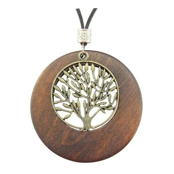 Alloy life tree wooden pendant necklace 18 liked on polyvore alloy life tree wooden pendant necklace 18 liked on polyvore featuring jewelry mozeypictures Images