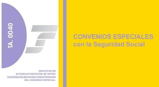 Convenios Especiales Con La Seguridad Social Seguridad Social Socialismo Seguridad