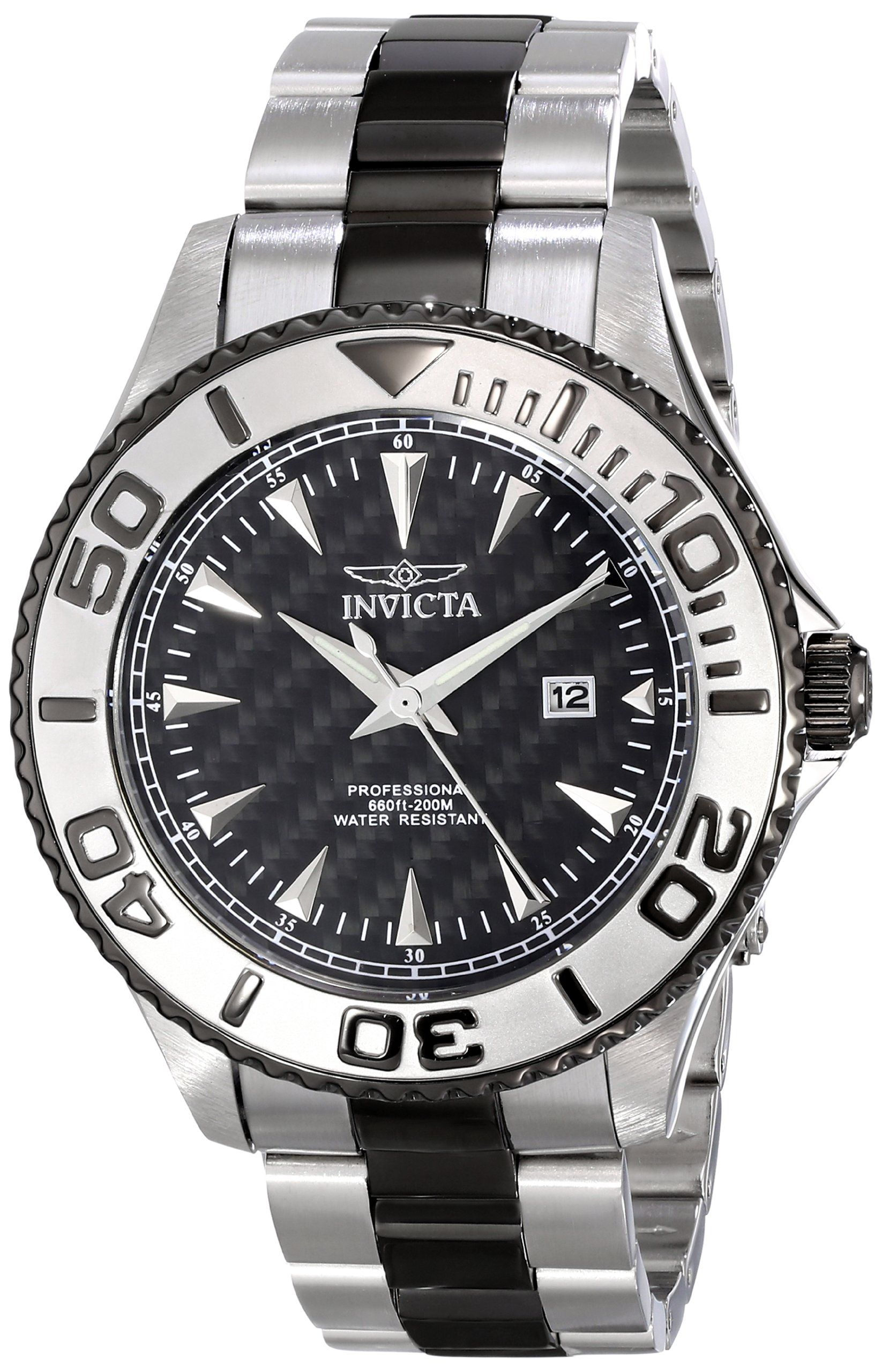 Invicta menus pro diver analog display japanese quartz two