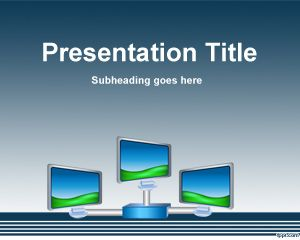 Free Digital Signage Powerpoint Template Background