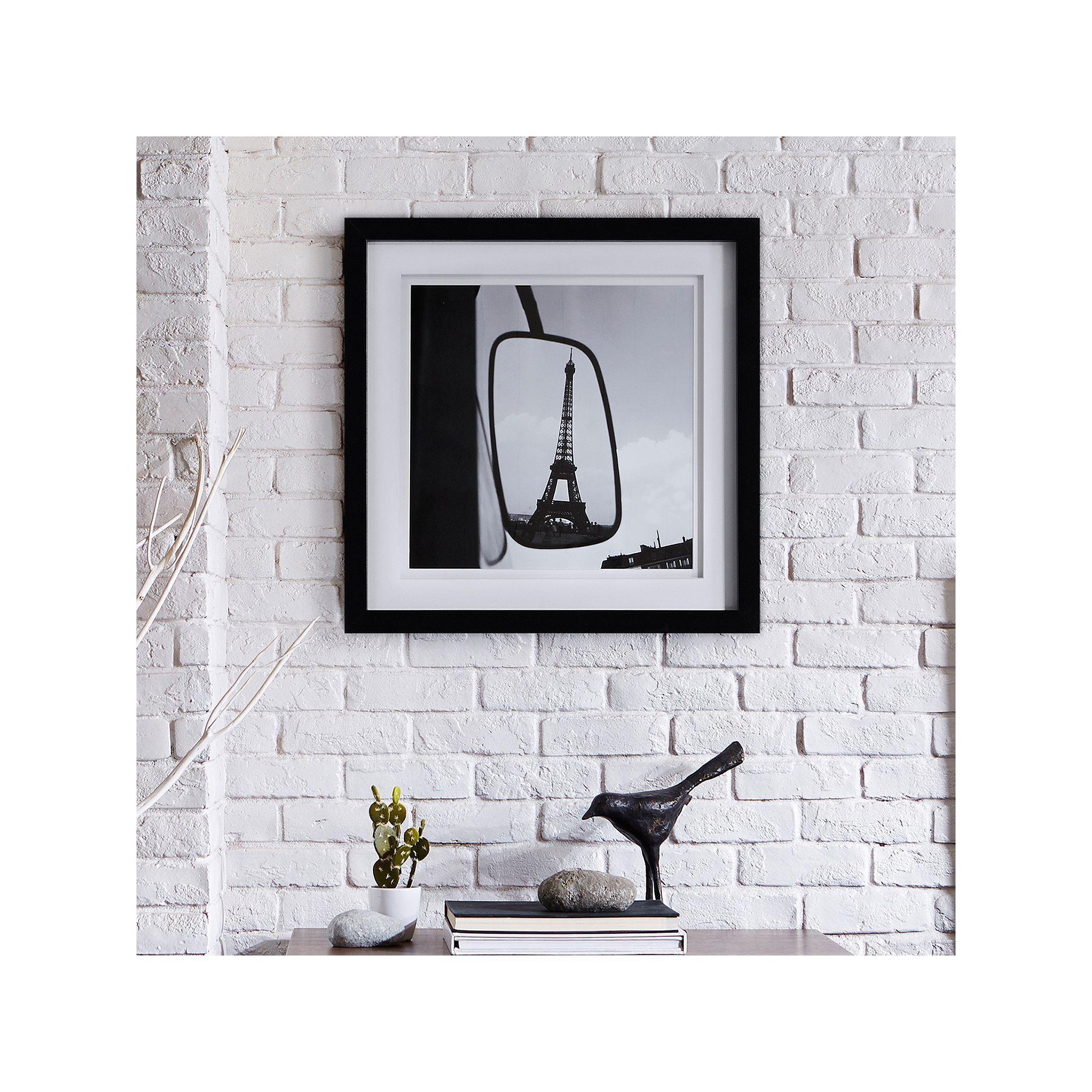 Inkivy uueiffel tower reflectionuu framed wall art black framed