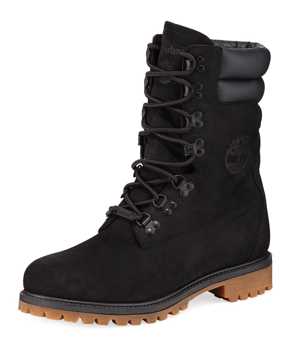 TIMBERLAND MEN'S SUPER SHEARLING LINED LEATHER HIKER BOOTS