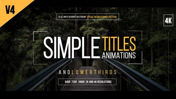 after effects titles