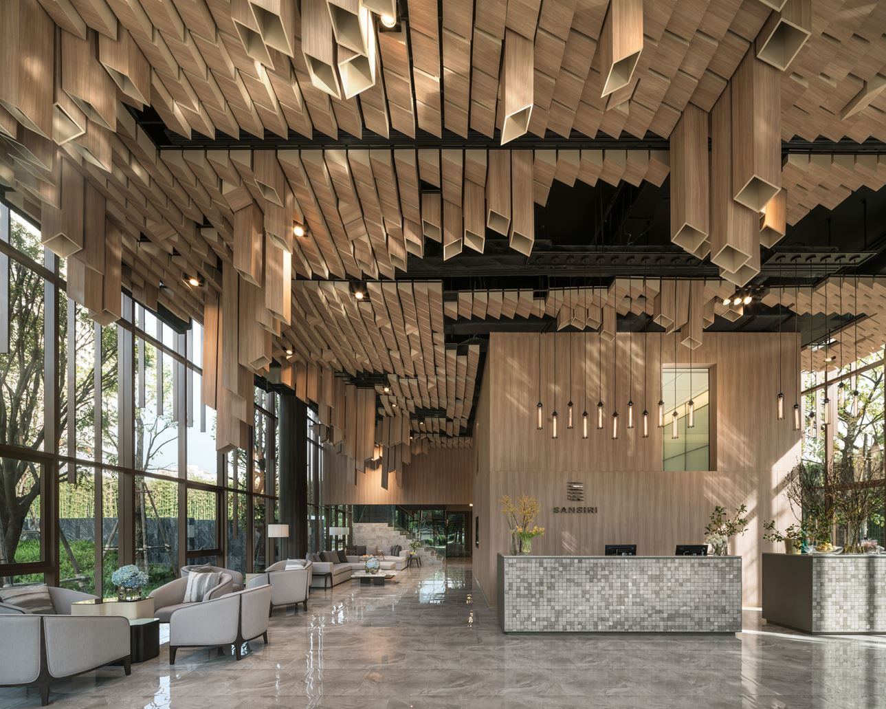 Oka Haus Picture Gallery Lobby Design Architecture Ceiling Hotel Interiors
