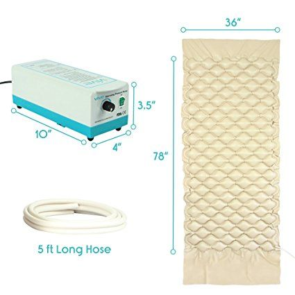 amazoncom alternating pressure mattress by vive includes electric pump u0026 mattress pad best inflatable bed pad for pressure ulcer and pressure sore
