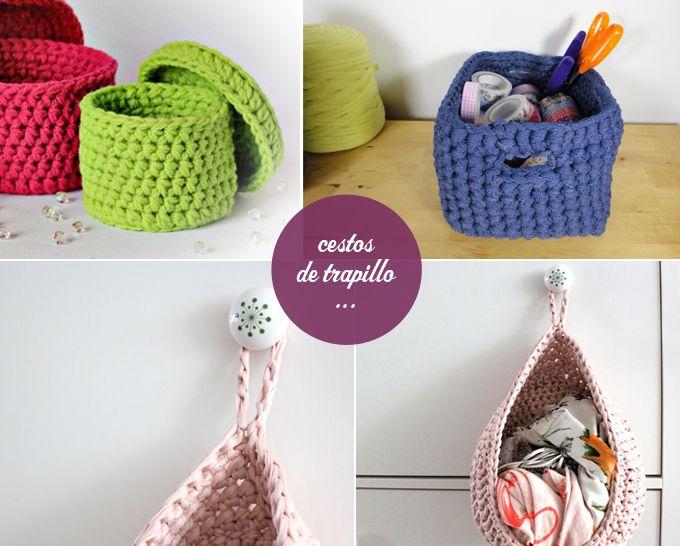 Patrones cestos crochet xxl manualidades trapillo - Como hacer un puff de trapillo ...