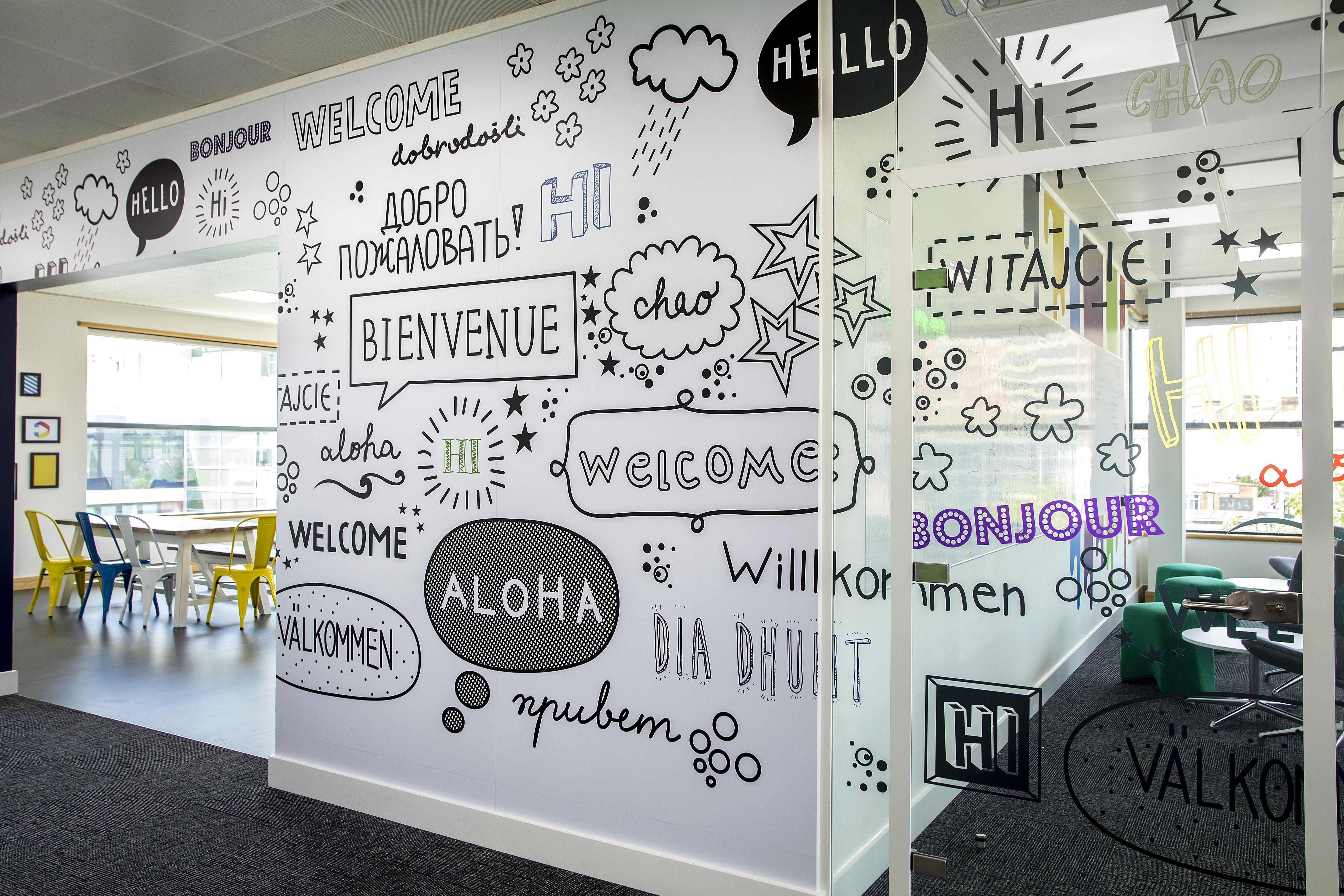 70 Cool Color Interior Design Ideas Office Wall Design Office Wall Decor Office Interior Design