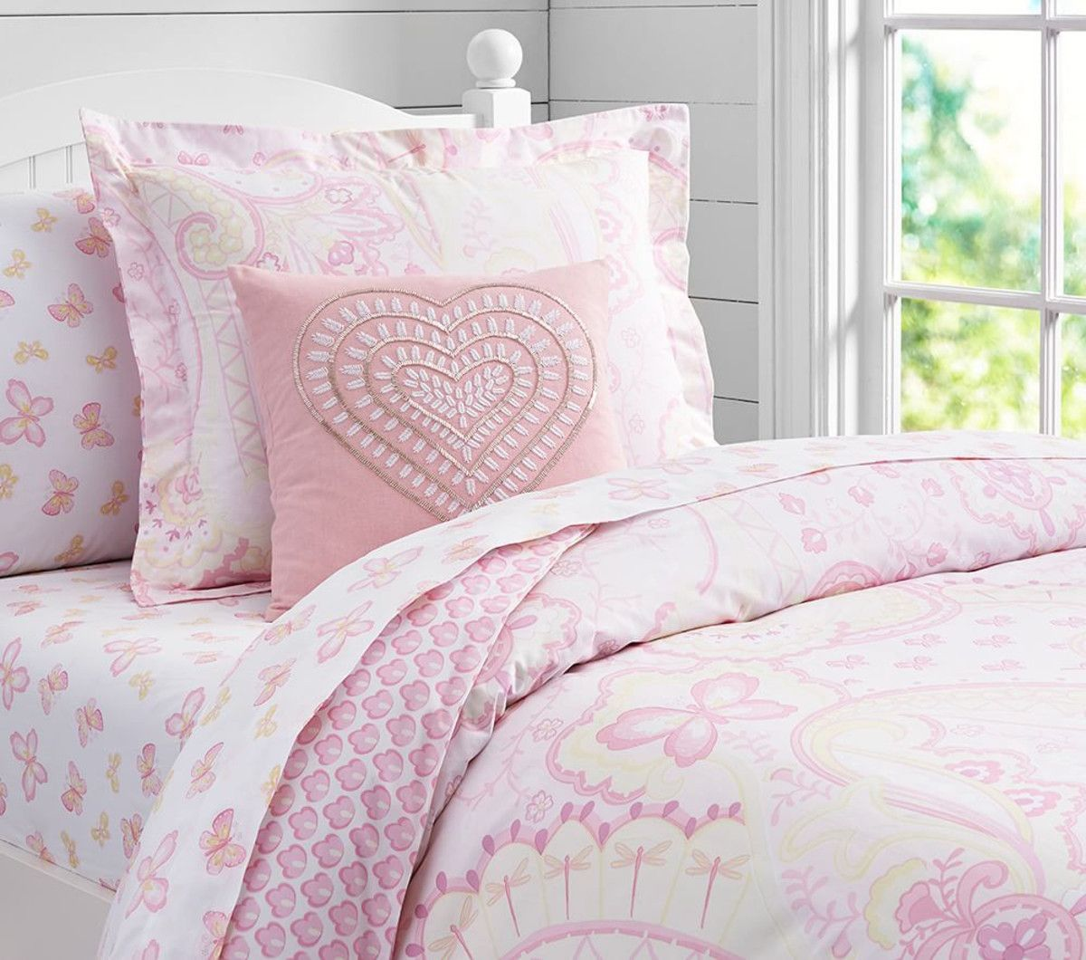 Mallory Paisley Quilt Cover, Pink on sale 94 pottery barn