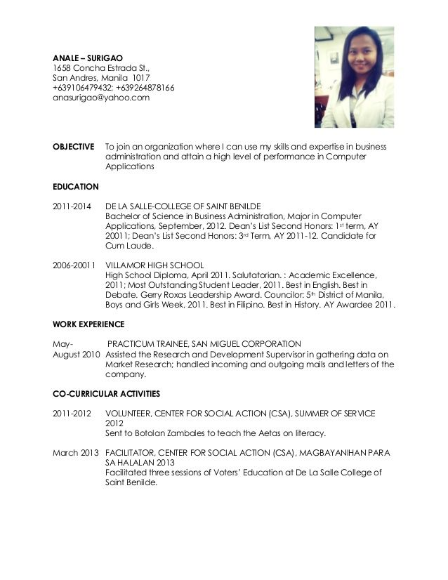 Ixiplay Free Resume Samples Example Of Resume For Ojt Business Students Resume Ixiplay Free 334c8e7d Resumesa Job Resume Samples Unique Resume Resume Examples