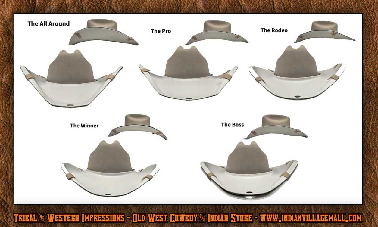 005b68bffe4 Stetson Hat Brim Bends - Tribal And Western Impressions -  www.indianvillagemall.com