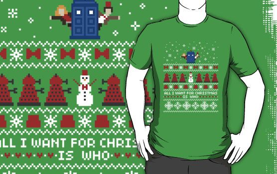 11th Doctor and Amy Christmas Sweater + Card by rydiachacha