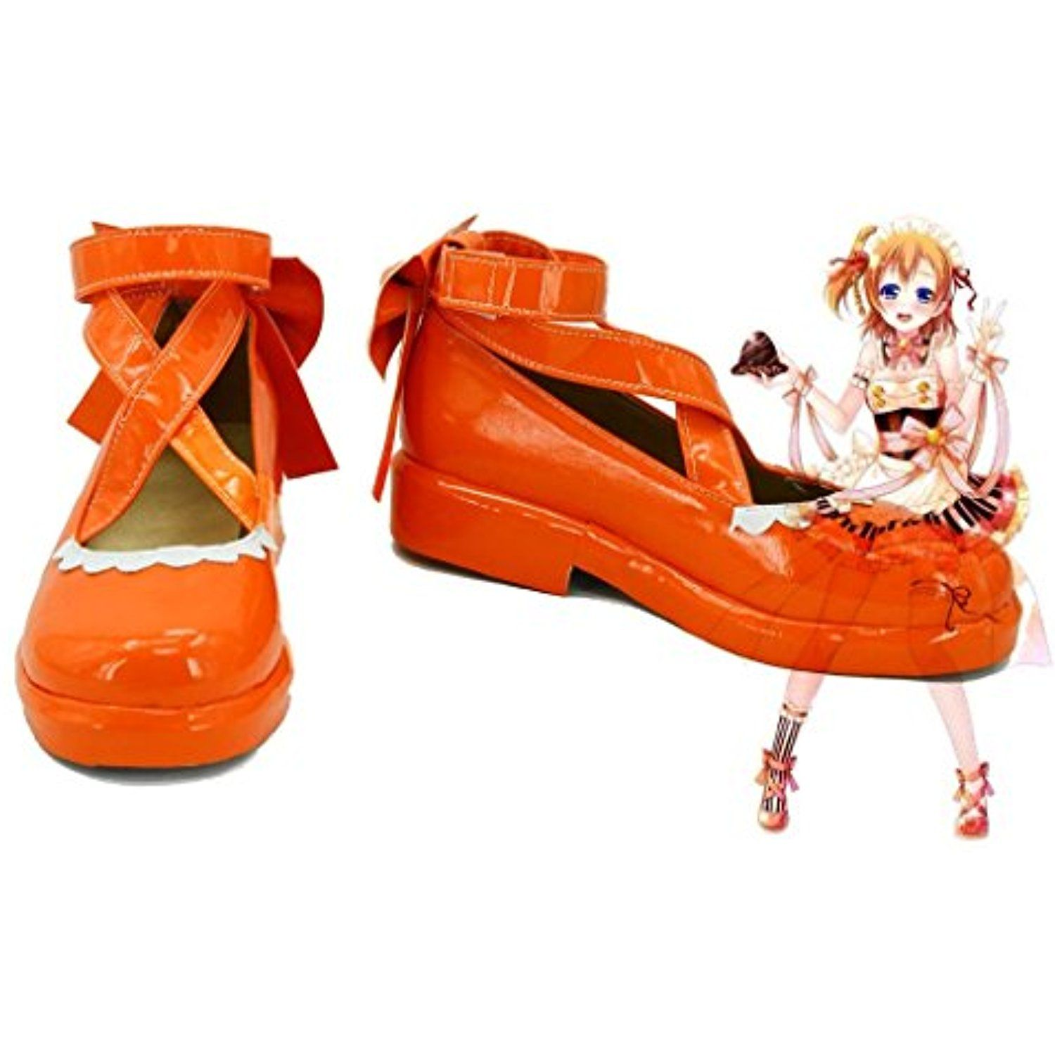 LoveLive! Love Live Happy Valentine's Day Maid Live! Kousaka Honoka Cosplay Shoes Boots Custom Made