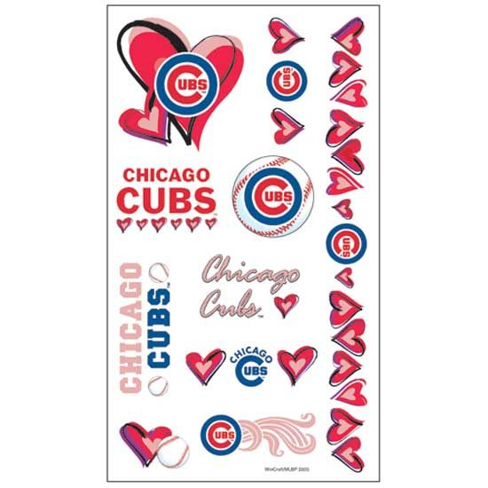 """Henna Tattoo Chicago Near Me: Chicago Cubs """"Hearts"""" Collection Temporary Tattoos"""
